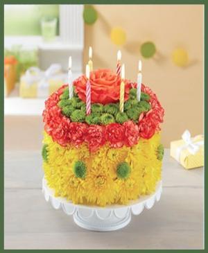 Birthday Wishes Flower Cake  in Arlington, TX | Erinn's Creations Florist