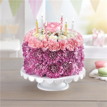 Birthday Wishes Flower Cake ™ Pastel