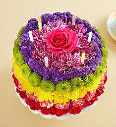 Birthday Wishes Flower Cake™ Rainbow