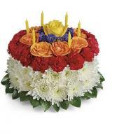 Birthday Wishes Flower Cake Fresh Flowers in Arlington, Texas   Lige Green Flowers