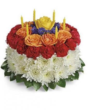 Birthday Wishes Flower Cake Fresh Flowers