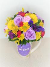 Birthday Wishes Mug Arrangement