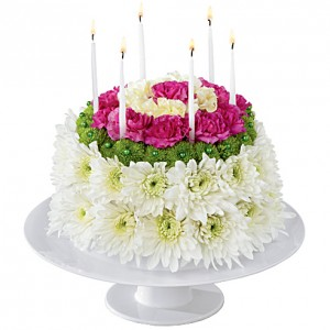 Birthday Treat Floral Birthday Cake