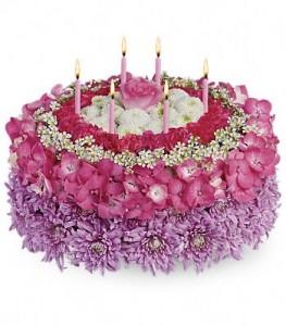 Birthday Flower Cake Birthday in Richmond Hill, ON | FLOWERS BY SYLVIA