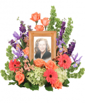 Bittersweet Twilight  Memorial Flowers (Frame not Included)