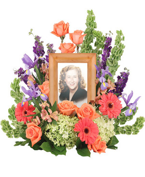 Bittersweet Twilight Memorial Memorial Flowers   (frame not included)  in Port Dover, ON | Upsy Daisy Floral Studio