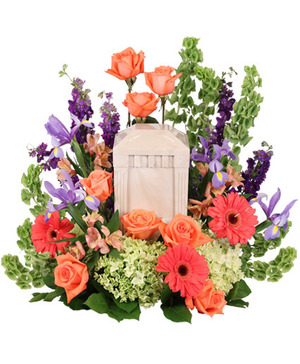Bittersweet Twilight Memorial Urn Cremation Flowers   (urn not included)  in Huxley, IA | CHICKEN SHED PRIMITIVES