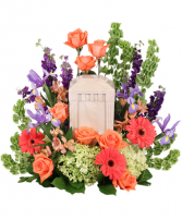 Bittersweet Twilight Memorial Urn Cremations Flowers (Urn not Included)