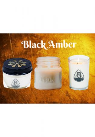 Black Amber Candles Locally Made By Bridge Nine
