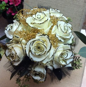 Black And Gold Bouquet In Walnut Grove Ga Aprils Rose Garden
