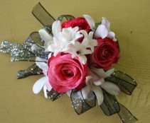Black and Pink Fun Corsage