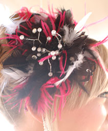 Black and Red Prom Hair Clip Prom Accessories