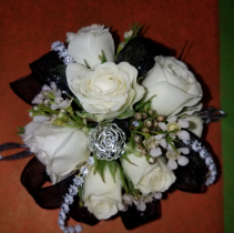 Black and Silver corsage