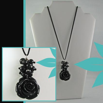 Black Antique Rose Jewelry