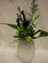Black Calla Table Arrangement Arrangement