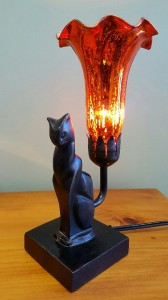 Black Cat Lamp Remembrance Lamp
