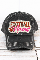 Black Football Mama Hat