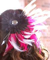 Black Daisy Prom Hair Clip Prom Accessories