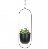 Black Hanging Planter (plant NOT included)