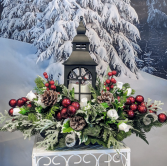 Black Holiday Lantern Centerpiece