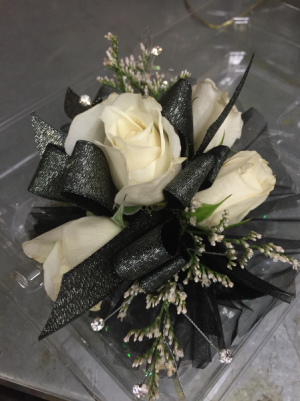 Black Ribbon  Corsage in Winston Salem, NC | RAE'S NORTH POINT FLORIST INC.