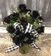 Black Roses classic black roses