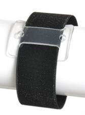 Black slap bracelet Corsage accessory