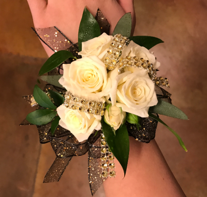 Black Sparkle  Prom Corsage