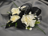 BLACK SPARKLE CORSAGE IN STORE PICK UP ONLY WRIST CORSAGE