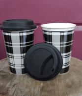 Black & White Buffalo Plaid Mug