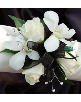 Black & White Corsage