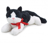 Plush Black & White Kitty