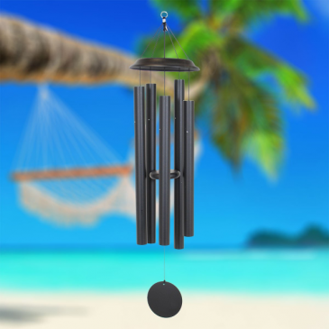 Black Wind Chime Carson Gifts