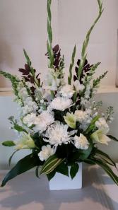 Blanche Flower arrangement