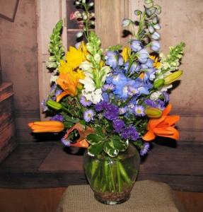Blast of Blue  in Stevensville, MT   WildWind Floral Design Studio