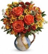 Blaze of Beauty Keepsake Arrangment Beautiful Fall or Thanksgiving Flowers