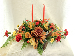 Blazing Bounty Autumn arrangement in Milford, PA | Myer The Florist Inc.