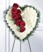 Bleeding Heart Arrangement Funeral Arrangement