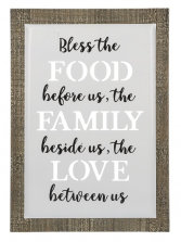 Bless The Food - Plaque