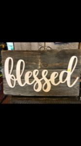Blessed Barn-Wood Sign Custom Gift Item