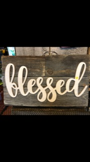 Blessed Barn-Wood Sign Custom Gift Item in Russellville, KY | Hickory Hill Florist & Garden Center