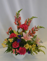 BLESSED BLOSSOMS SYMPATHY ARRANGEMENT