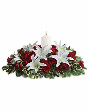 Blessed Christmas Centerpiece  in Magnolia, TX   ANTIQUE ROSE FLORIST