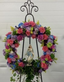 Blessed Comfort Wreath With Statue