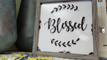 Blessed Farmhouse Sign Home Decor