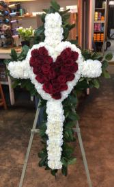 Blessed heart Fresh funeral cross