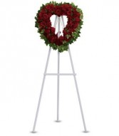Blessed Heart Funeral Wreath