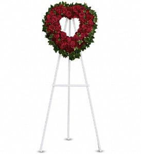 Blessed Heart Standing Spray in Coral Springs, FL | DARBY'S FLORIST