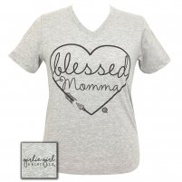 Blessed Momma Girlie Girl V-neck