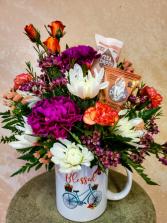Blessings Mug with Tea Arrangement
